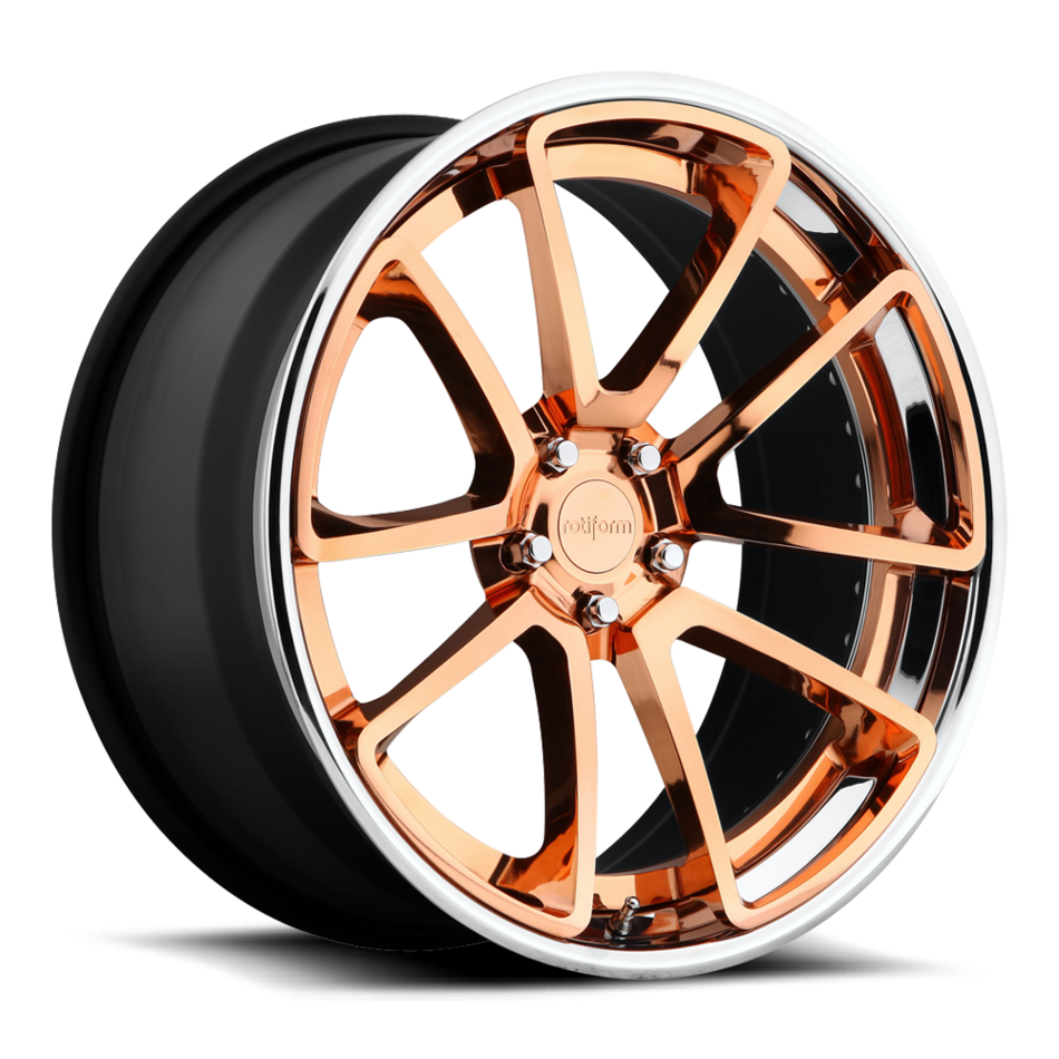 Rotiform SPF Forged Custom Hi Luster Copper Face with Polished Lip Finish Wheels