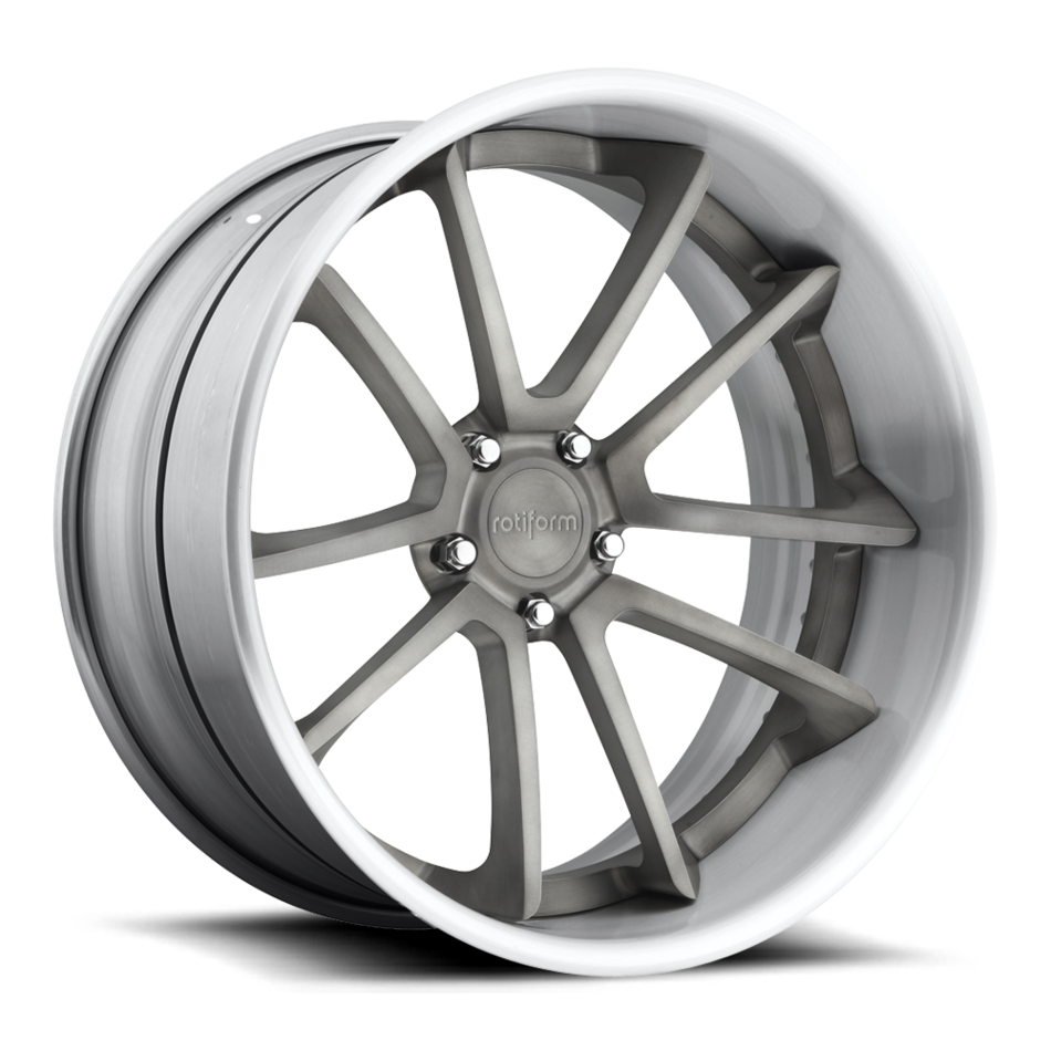 Rotiform SPF Forged Custom Brushed Matte DDT Face with Brushed Matte Lip Finish Wheels