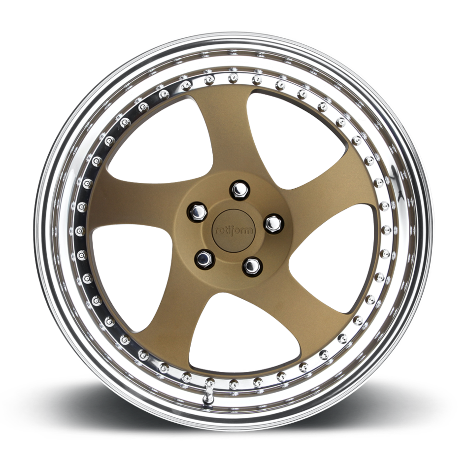 Rotiform TMB Forged Custom Matte Bronze Face with Polished Lip Finish Wheels