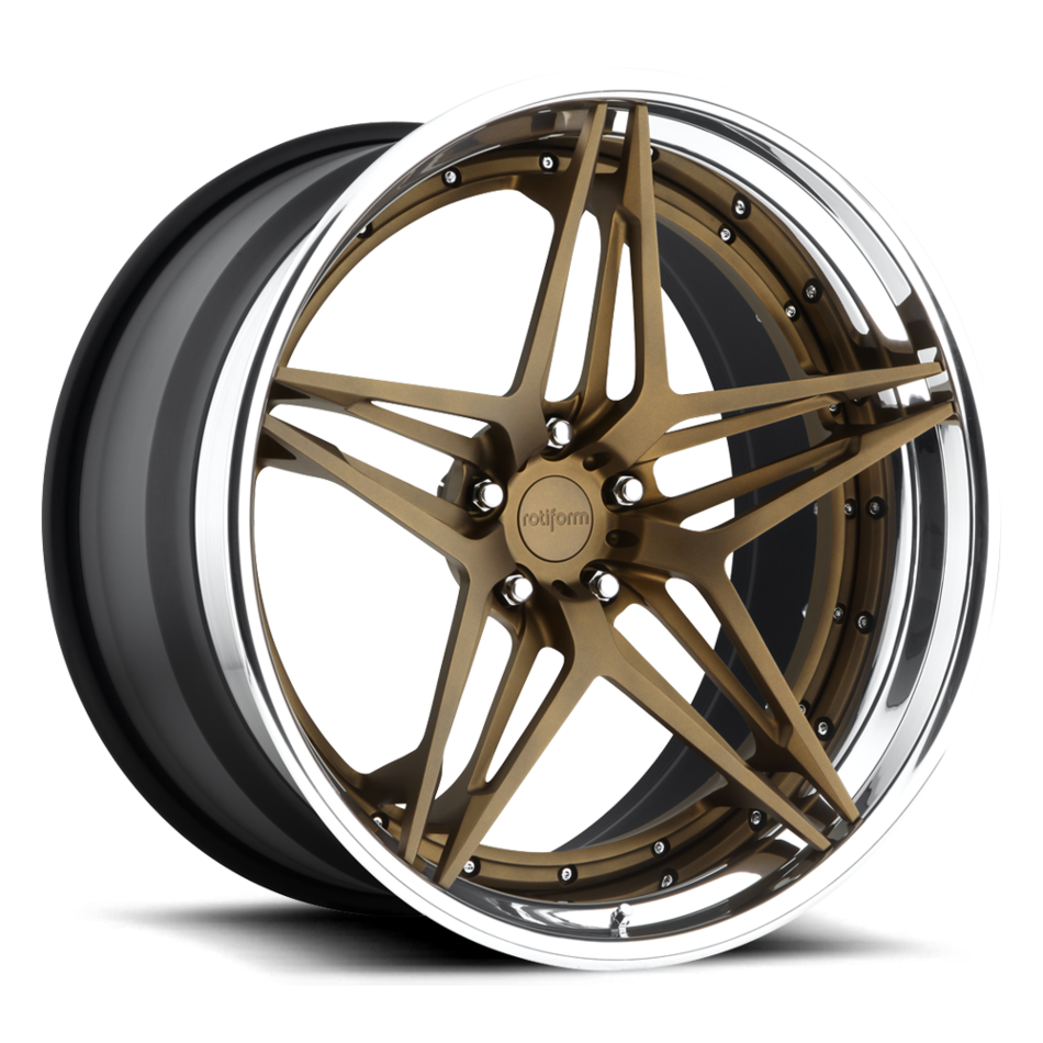 Rotiform VDA Forged Custom Matte Bronze Face with Polished Lip Finish Wheels