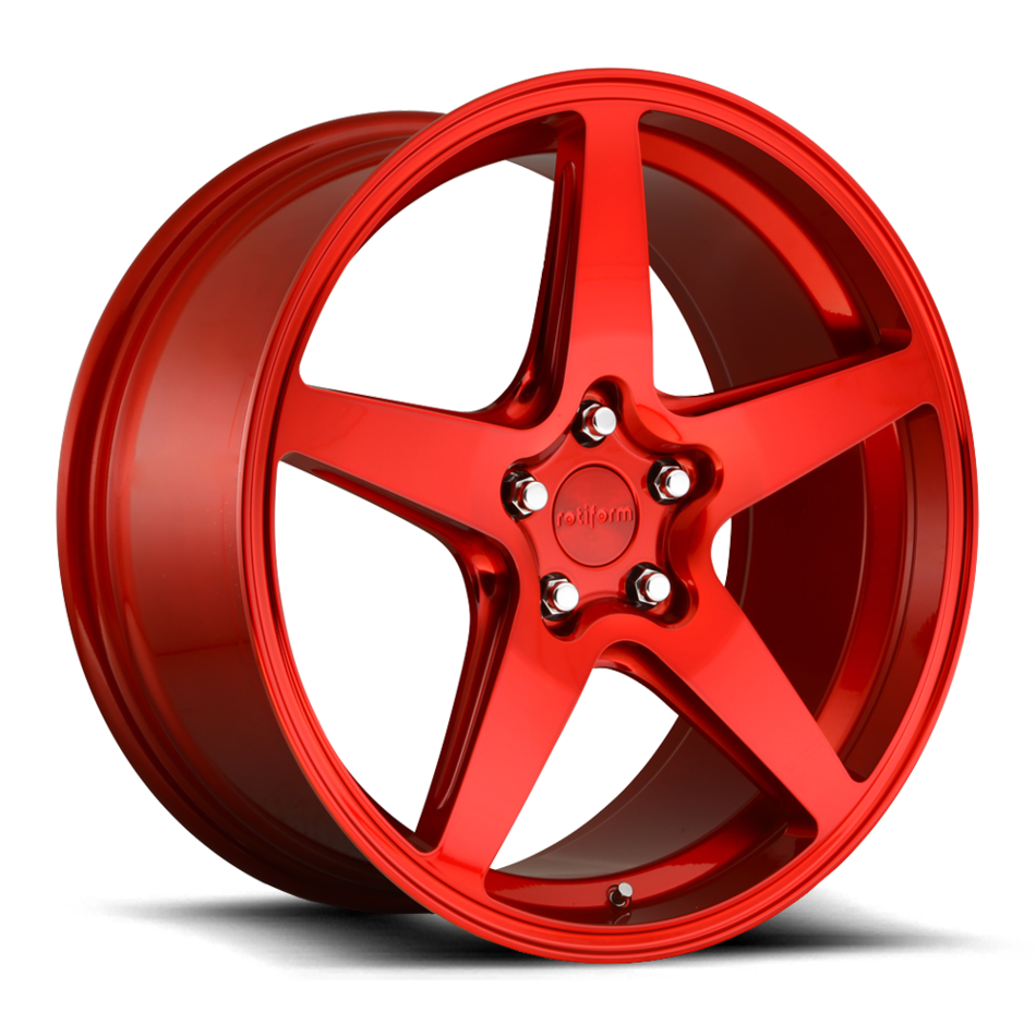 Rotiform WGR Candy Red Finish Wheels