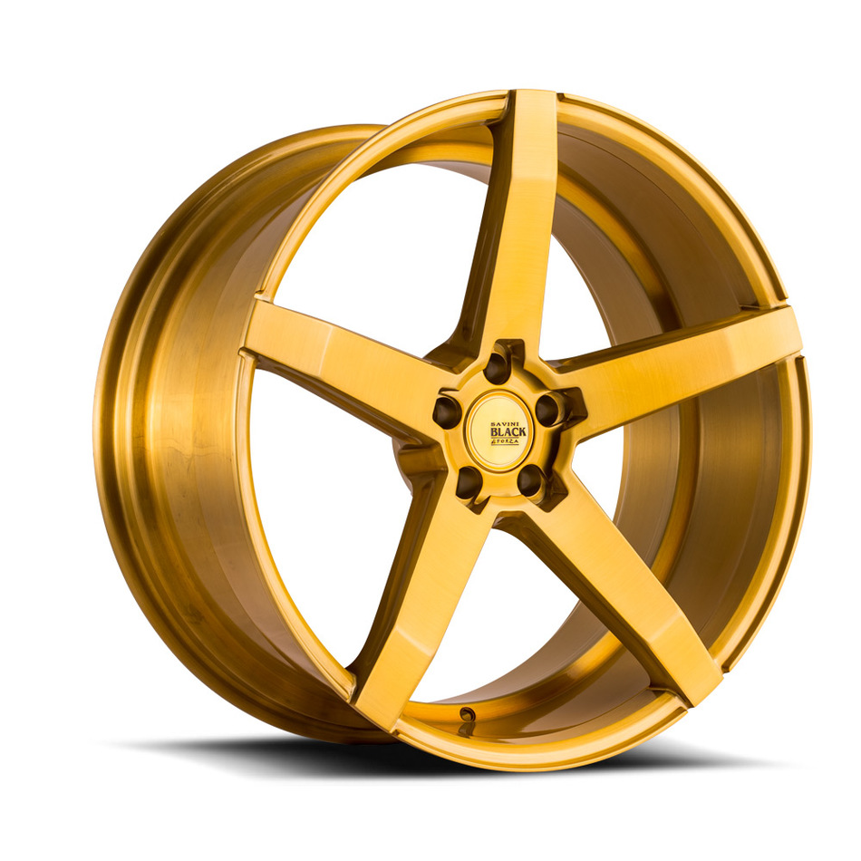 Savini Black di Forza BM11 Wheels - Brushed Gold Custom Finish