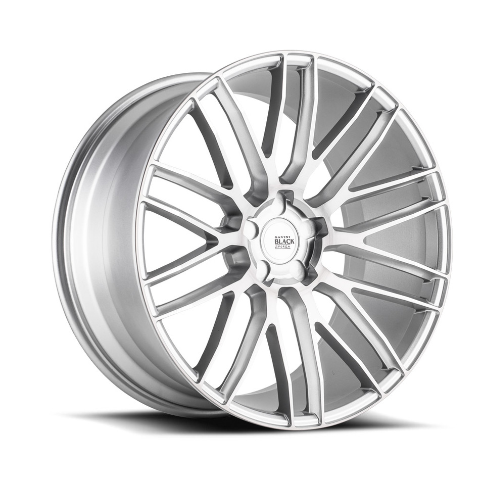 Savini Black di Forza BM13 Wheels - Brushed Silver Finish