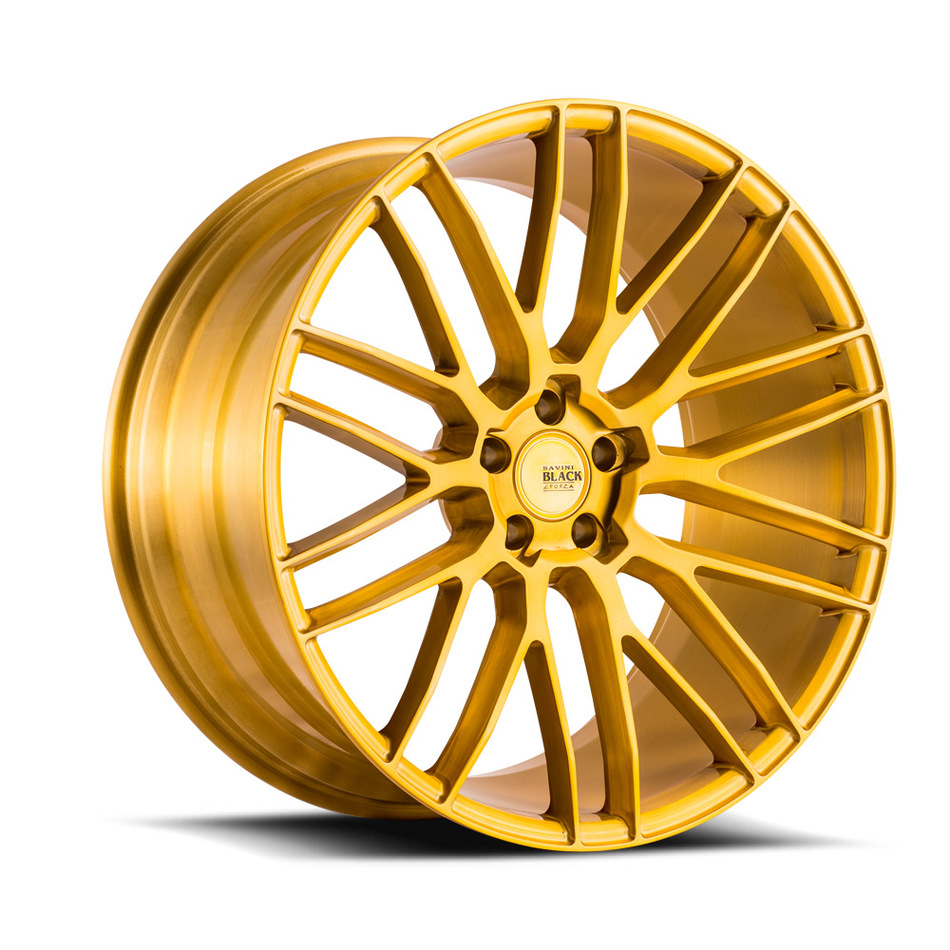 Savini Black di Forza BM13 Wheels - Brushed Gold Custom Finish