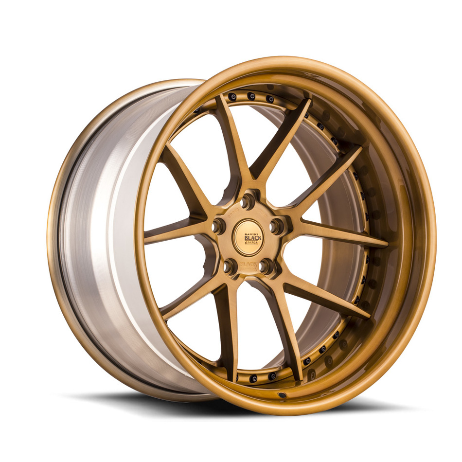 Savini Black di Forza BM14-L Forged Wheels - Brushed Copper Finish