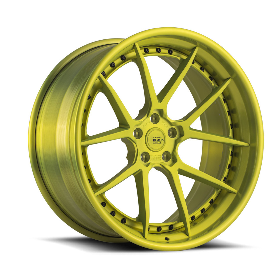Savini Black di Forza BM14-L Forged Wheels - Shocker Yellow Finish