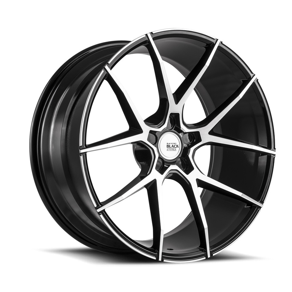 Savini Black di Forza BM14 Wheels - Machine and Black Finish