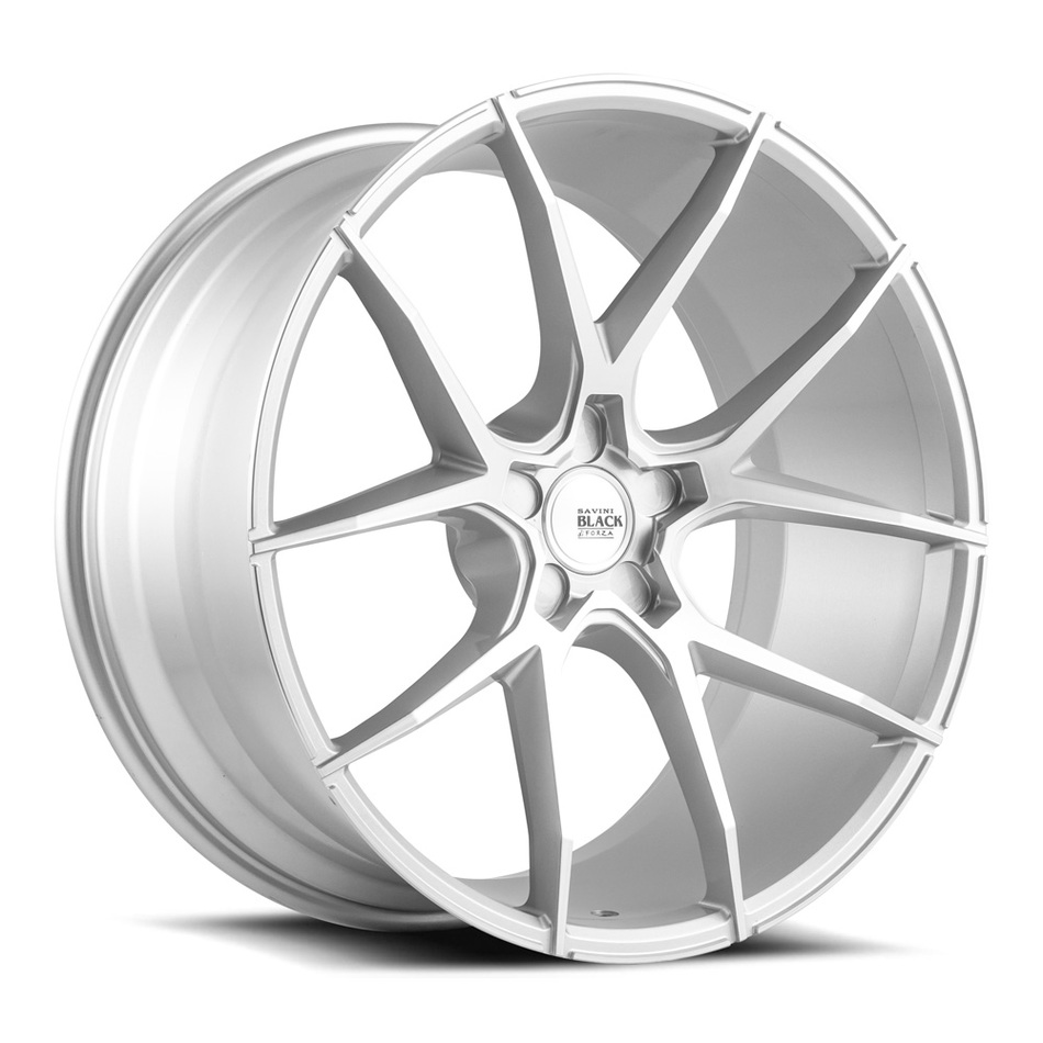 Savini Black di Forza BM14 Wheels - Brushed Silver Finish