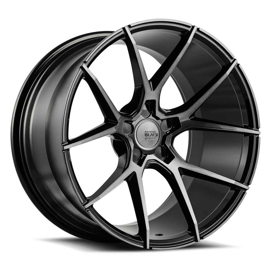 Savini Black di Forza BM14 Wheels - Gloss Black with Double Dark Tint Finish