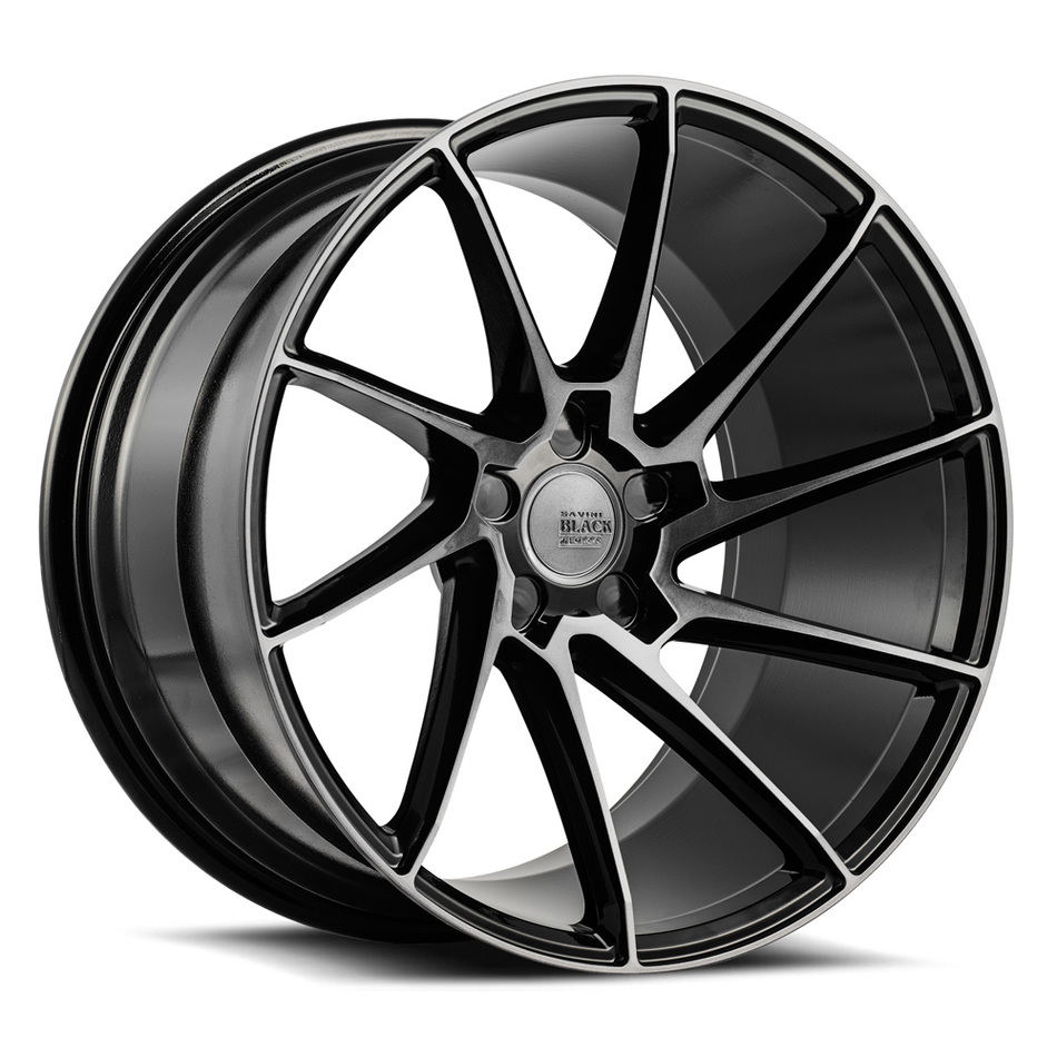 Savini Black di Forza BM15 Wheels - Gloss Black with Double Dark Tint Finish