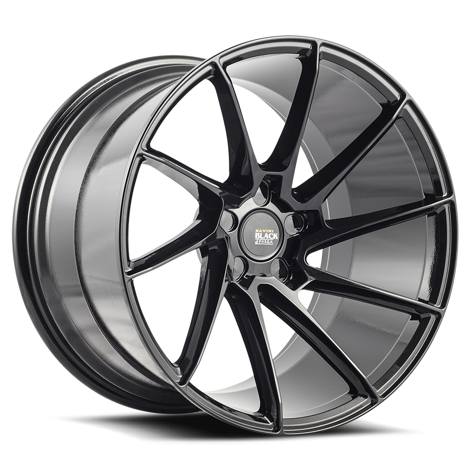 Savini Black di Forza BM15 Wheels - Gloss Black Finish