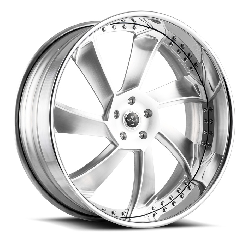 Savini Diamond SD15 Wheels - Brushed Center Chrome Lip Finish