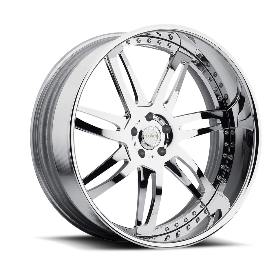 Savini Diamond Sesto Chrome Wheels