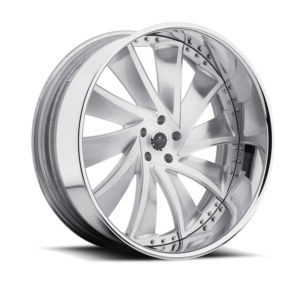Savini Diamond Solaro Brushed Chrome Wheels