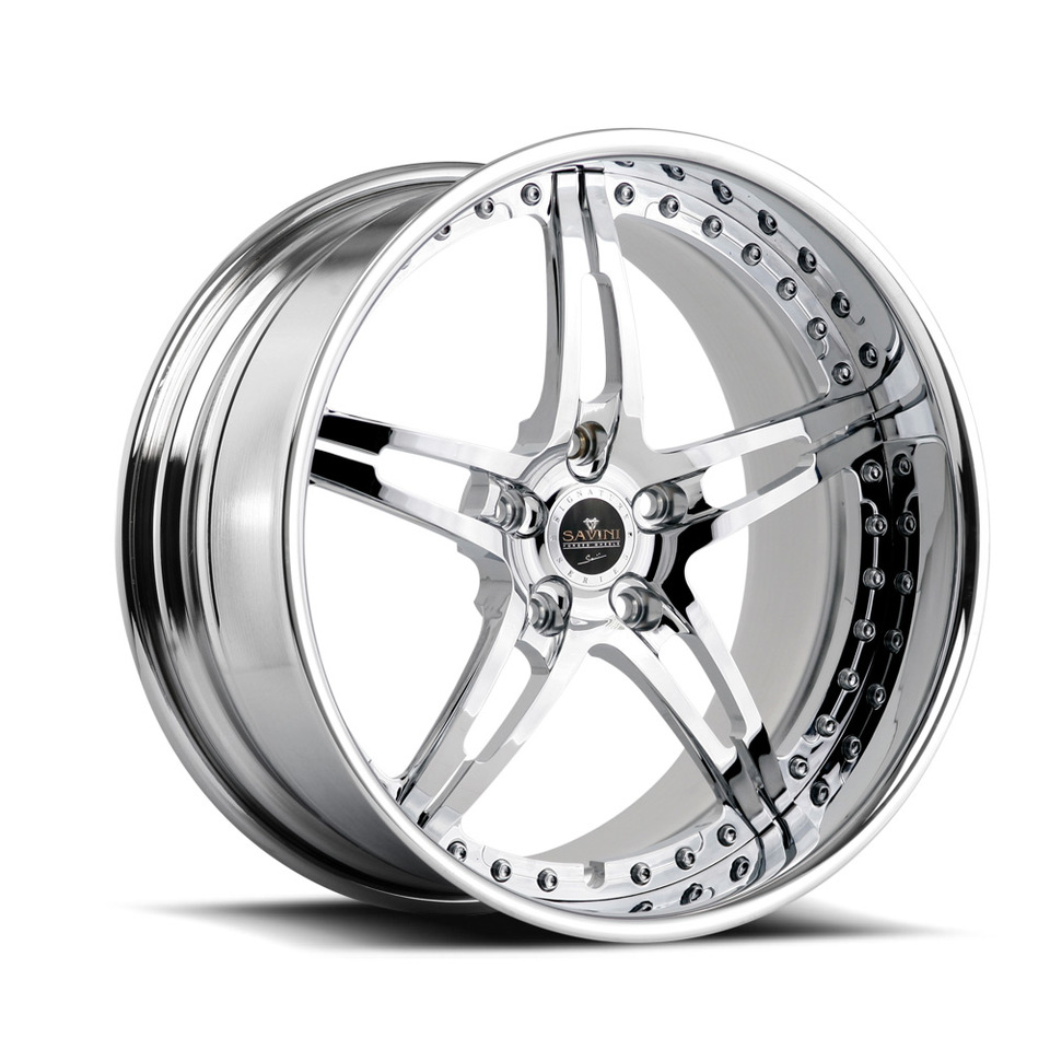 Savini Forged SV10 Chrome Signature Wheels