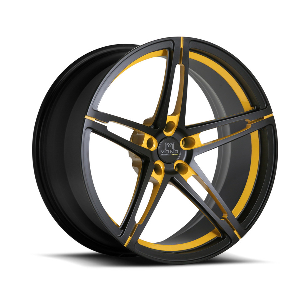 Savini Forged SV10m Black and Yellow Mono Wheels