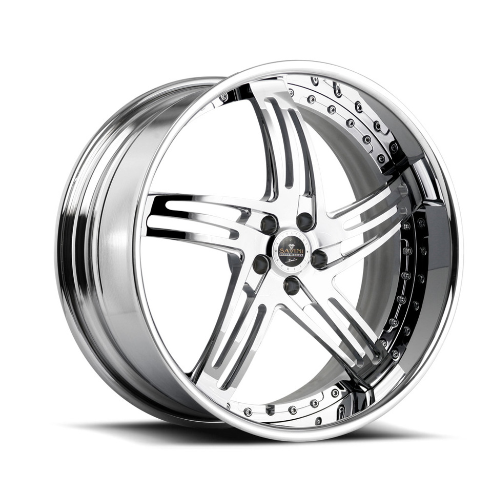 Savini Forged SV20s Chrome XLT Wheels
