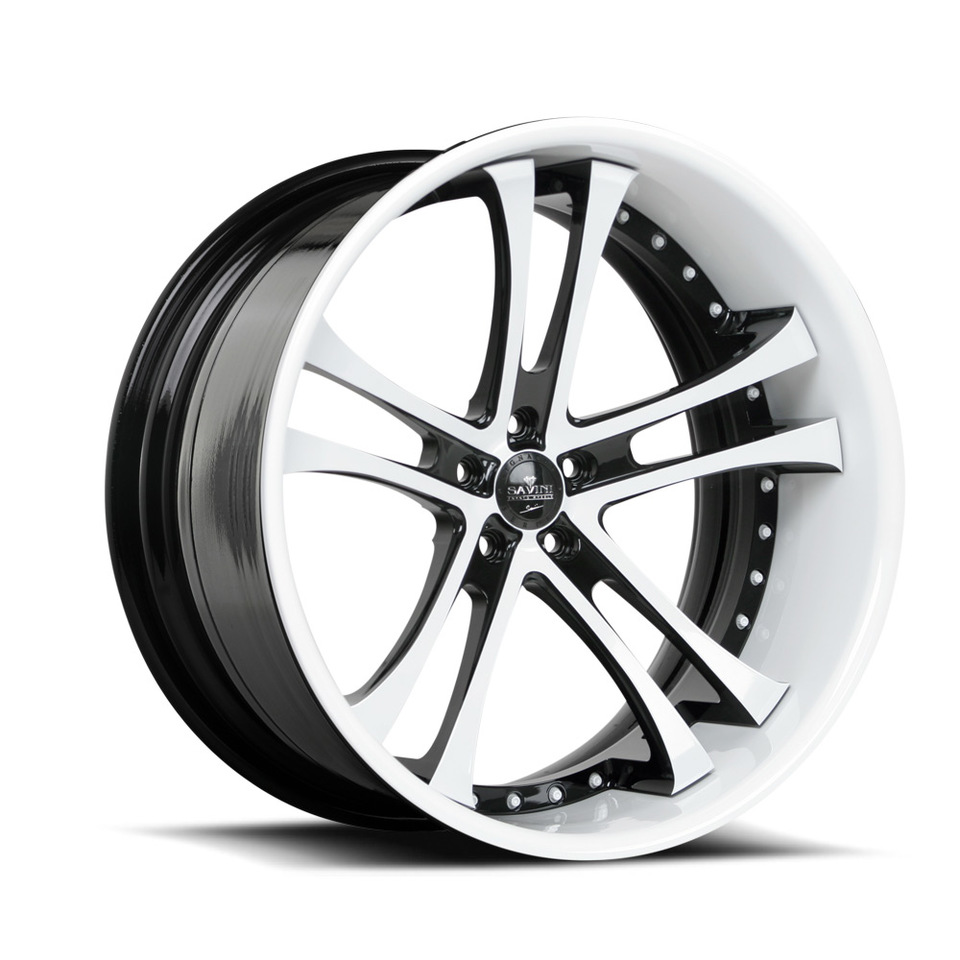 Savini Forged SV21c White and Black XC Wheels