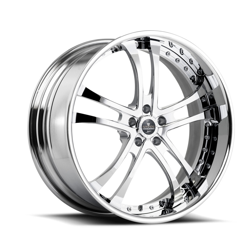 Savini Forged SV21s Chrome XLT Wheels