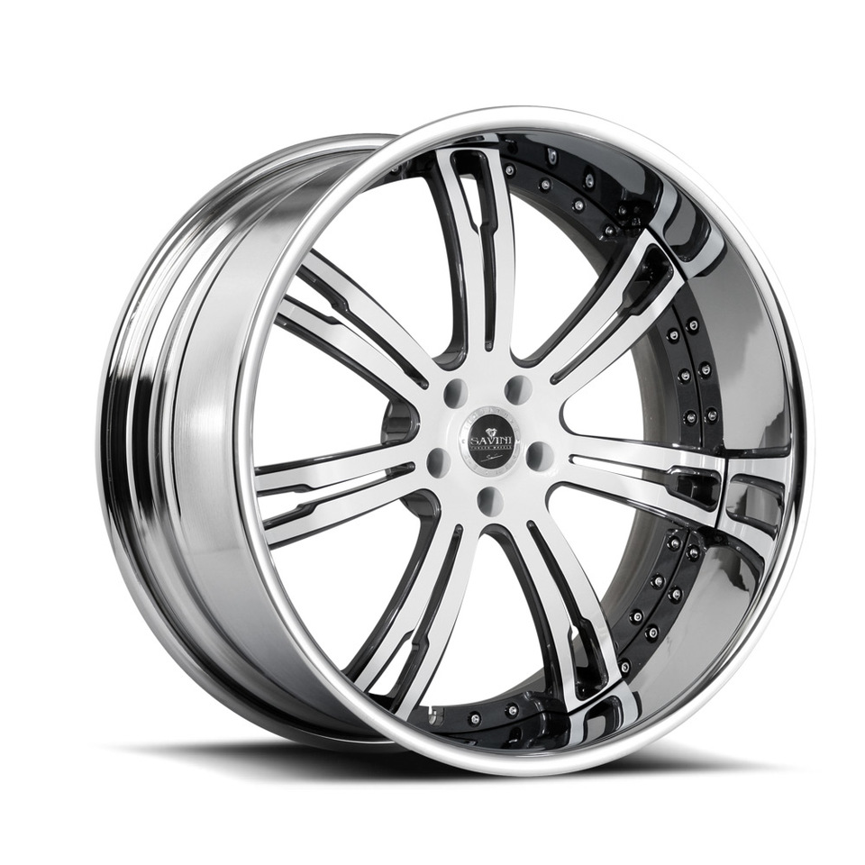 Savini Forged SV24s White and Grey XLT Wheels