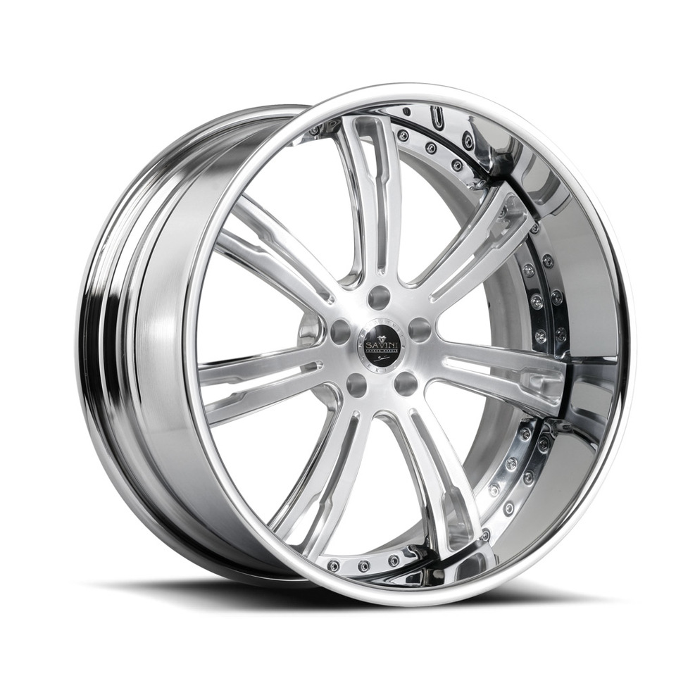 Savini Forged SV24s Brushed Polished XLT Wheels