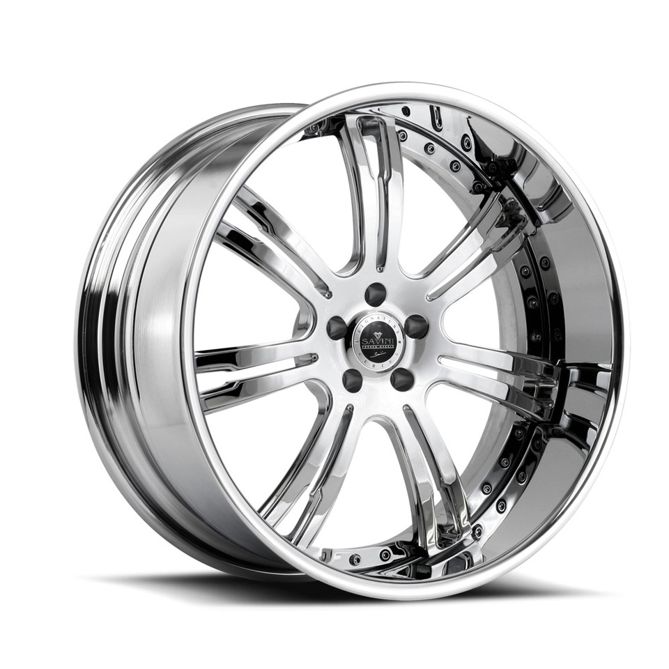 Savini Forged SV24s Chrome XLT Wheels