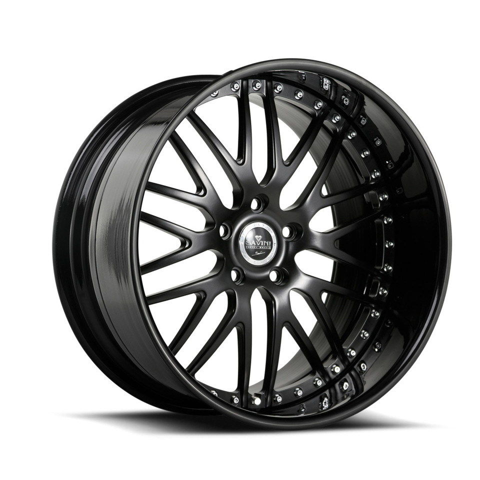 Savini Forged SV25 Black Signature Wheels