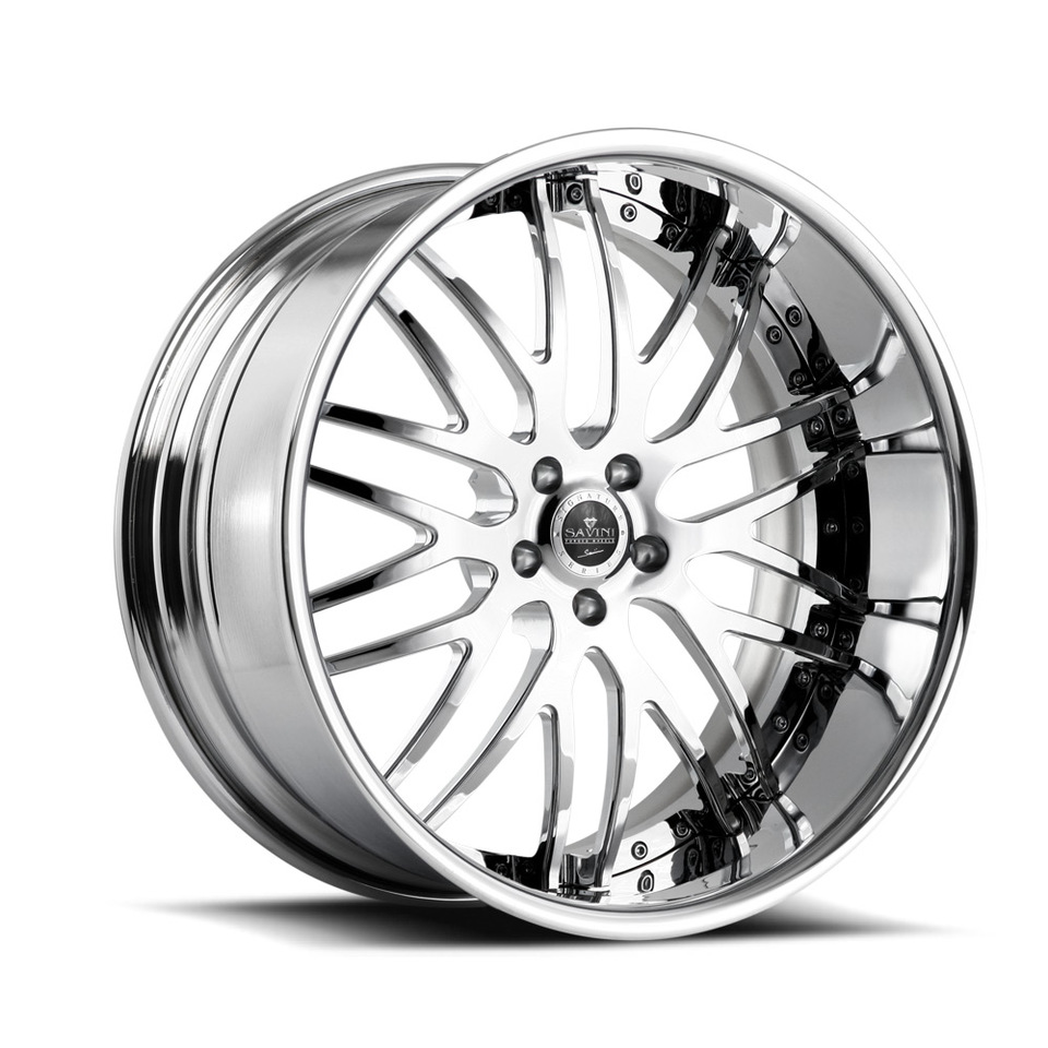 Savini Forged SV25s Chrome XLT Wheels
