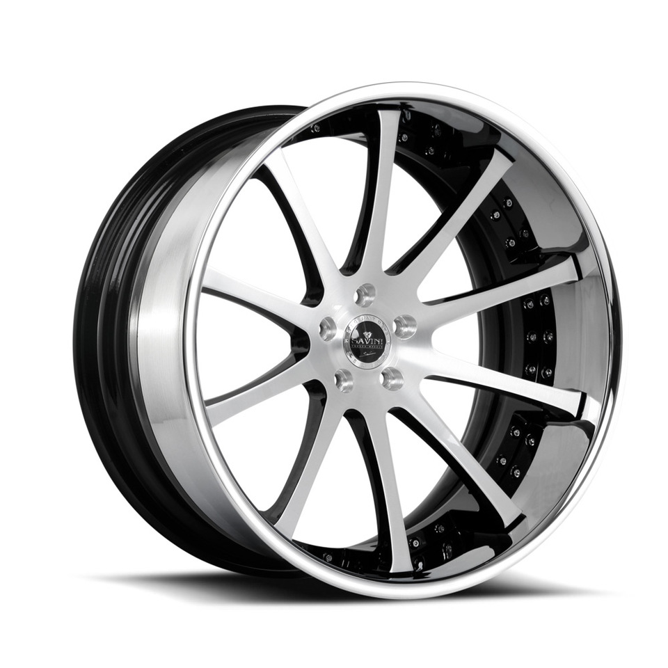 Savini Forged SV26c Brushed Black and Chrome XC Wheels