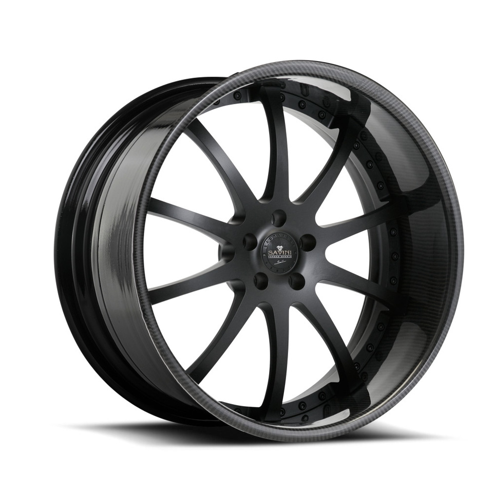 Savini Forged SV26s Black Carbon Fiber XLT Wheels