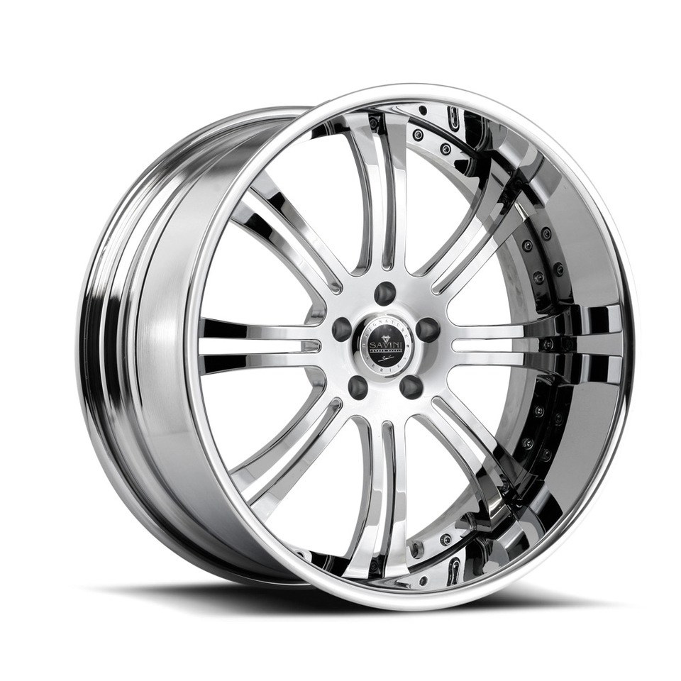 Savini Forged SV27s Chrome XLT Wheels