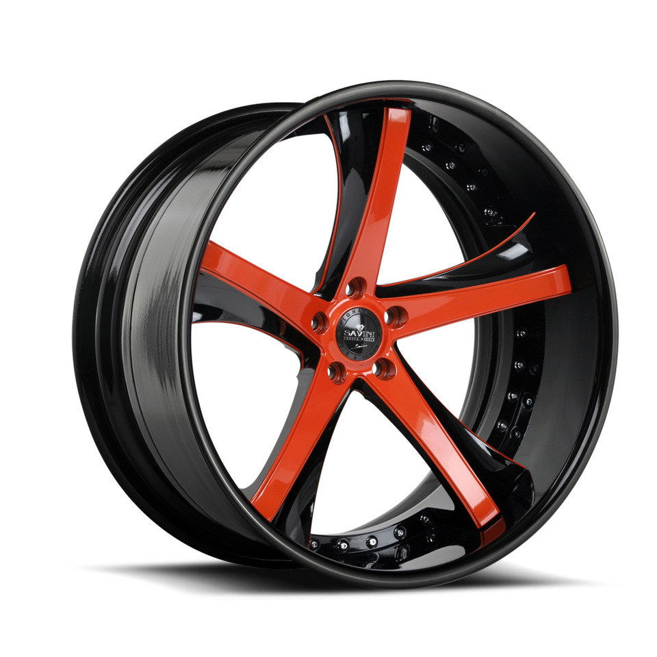 Savini Forged SV29c Orange and Black XC Wheels
