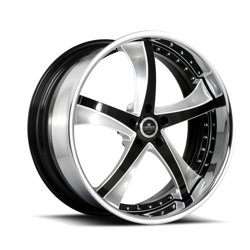 Savini Forged SV29s Black Brushed White XLT Wheels