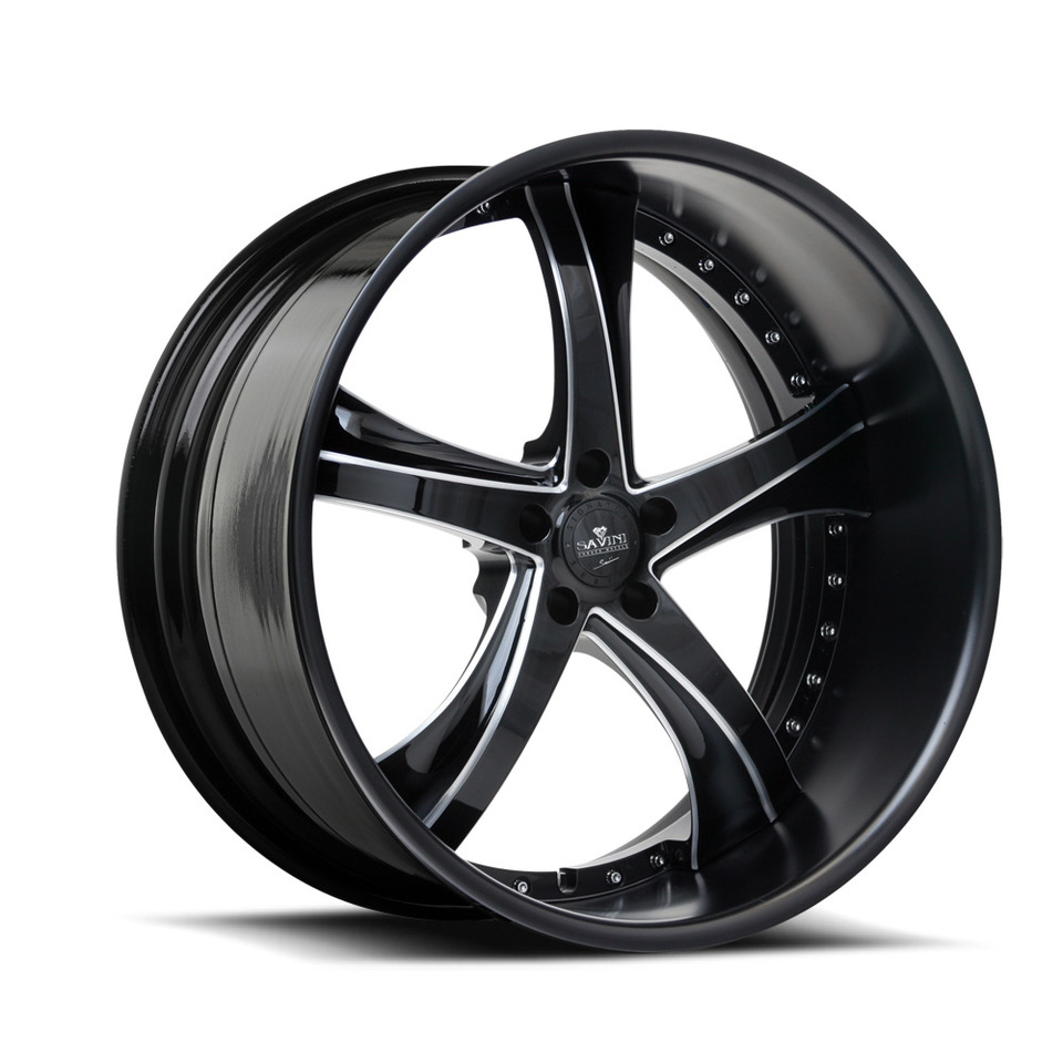 Savini Forged SV29s Black Polished XLT Wheels