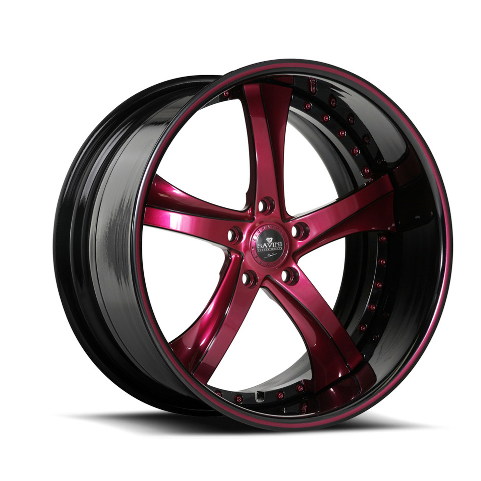 Savini Forged SV29s Magenta and Black XLT Wheels