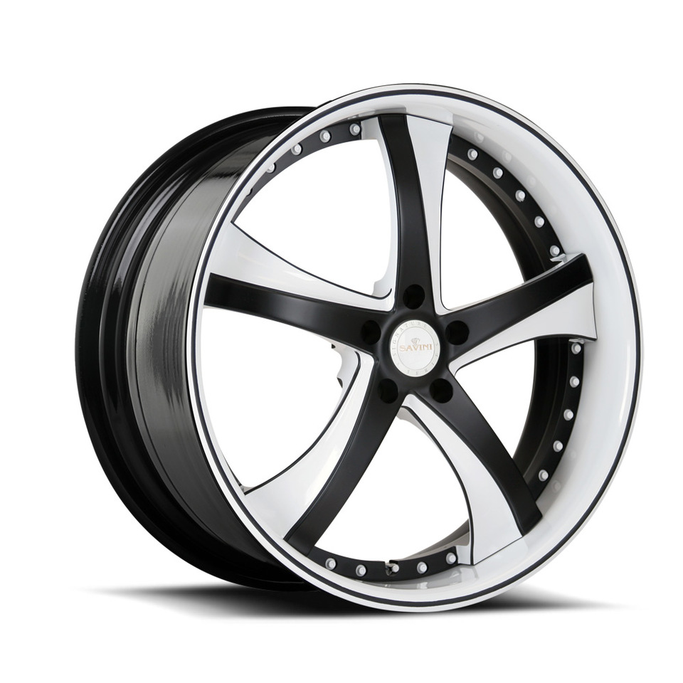 Savini Forged SV29s White and Black XLT Wheels