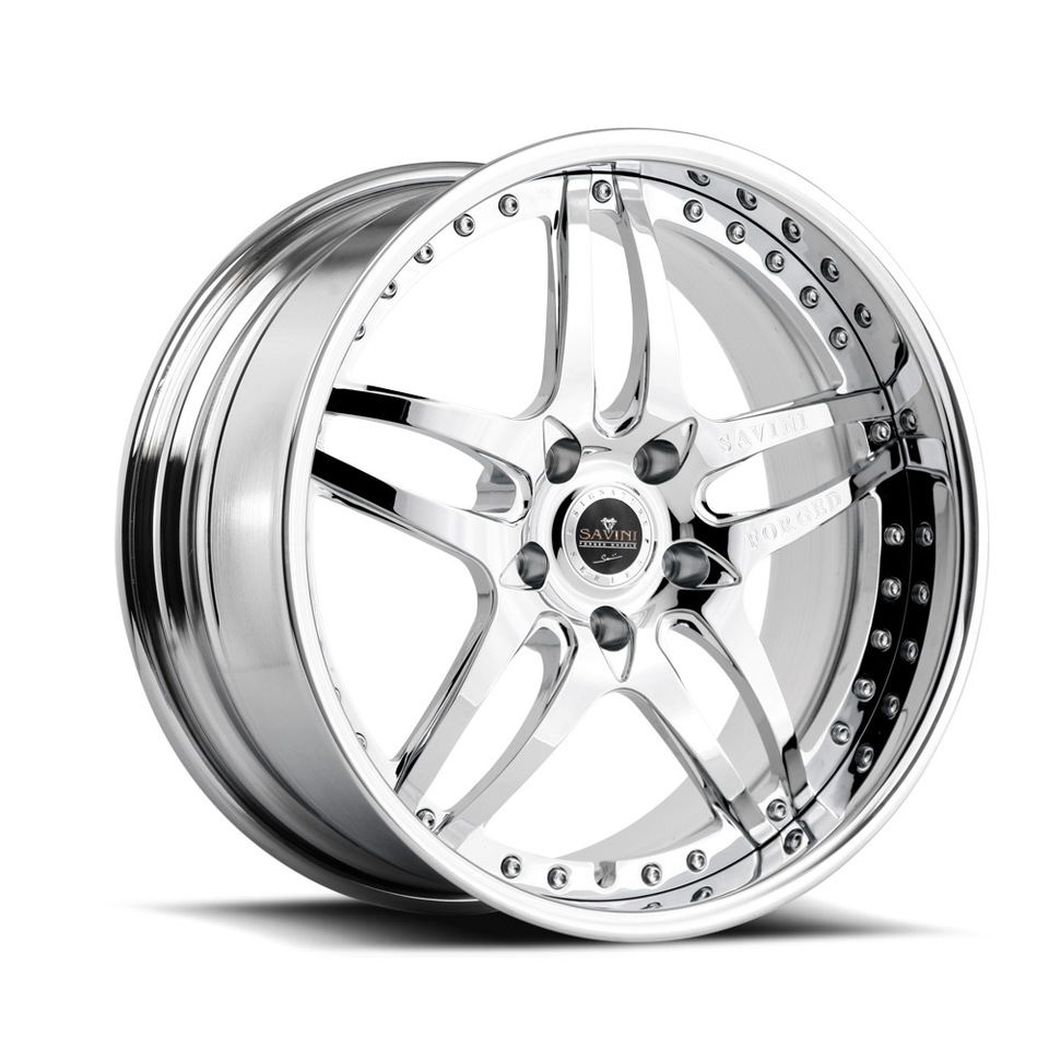 Savini Forged SV2 Chrome Signature Wheels