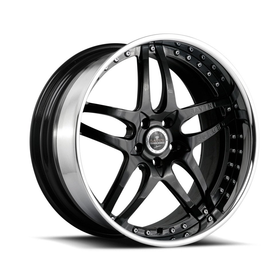 Savini Forged SV2 Black Signature Wheels