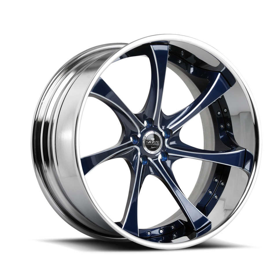 Savini Forged SV31c Blue Polished XC Wheels