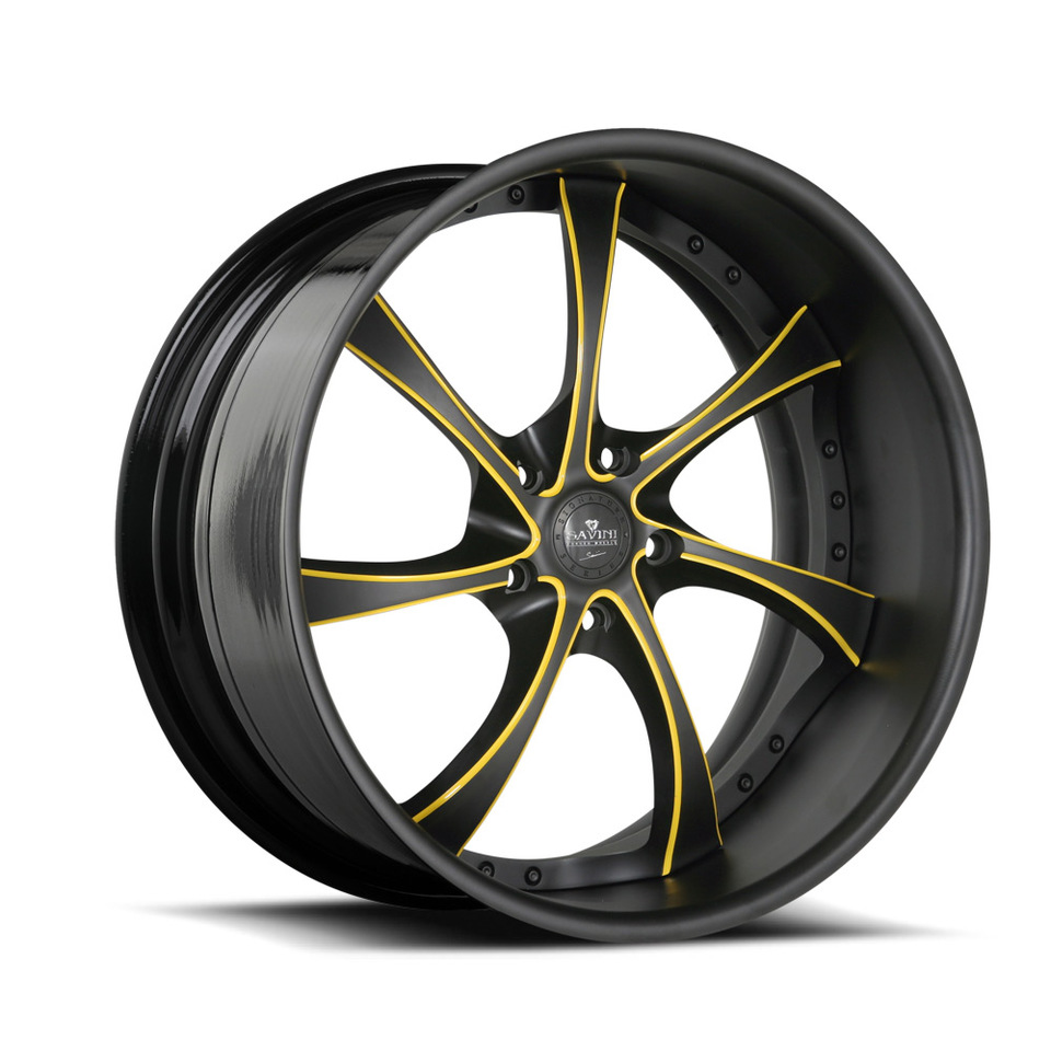 Savini Forged SV31s Black and Yellow XLT Wheels