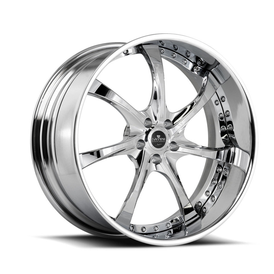 Savini Forged SV31s Chrome XLT Wheels