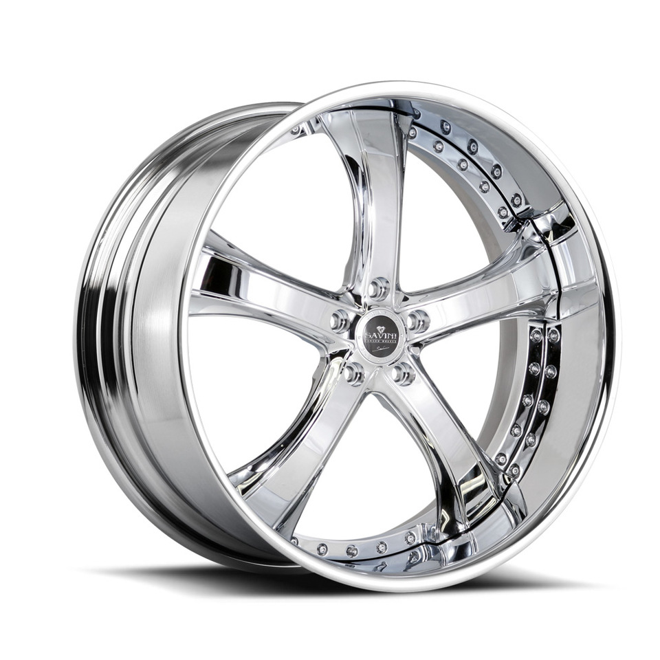 Savini Forged SV33s Chrome XLT Wheels