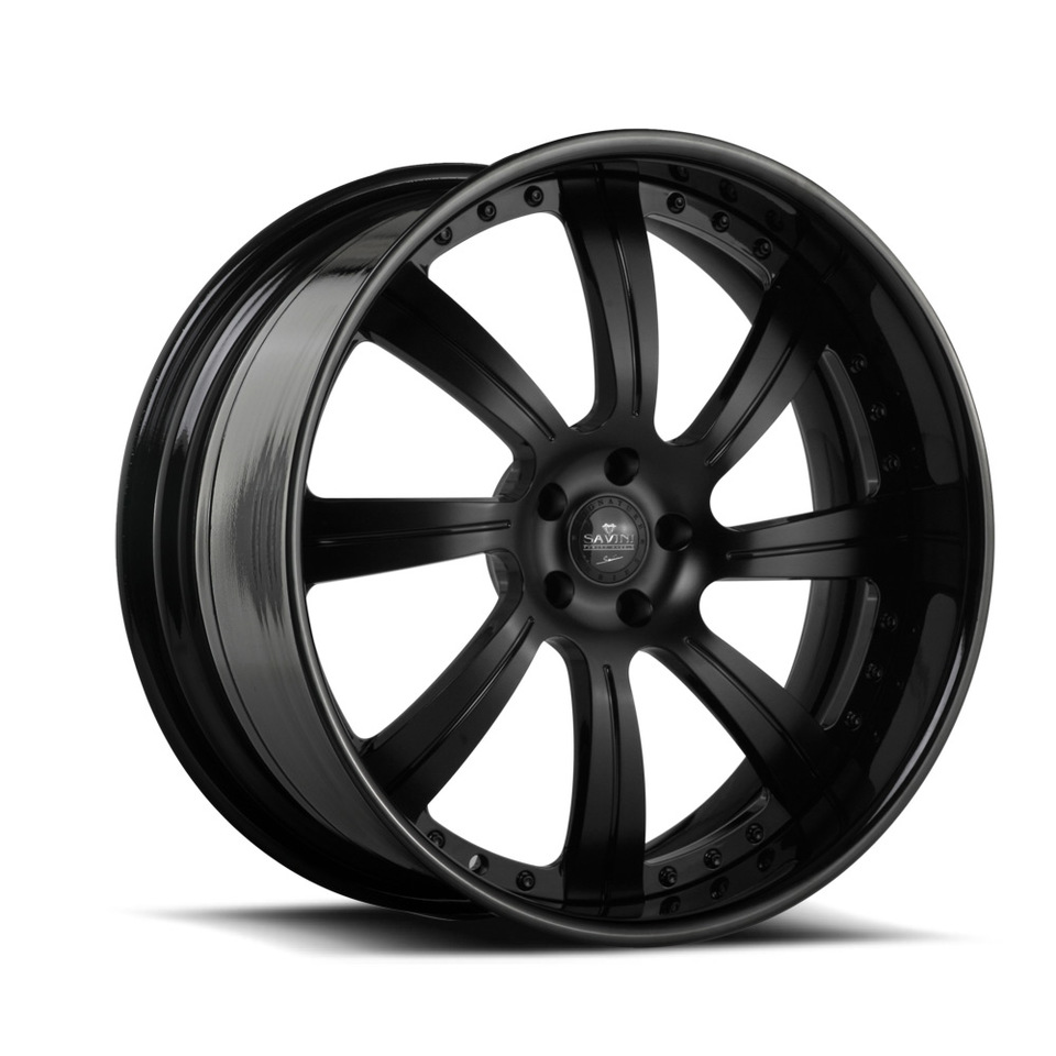 Savini Forged SV38 Matte Black Signature Wheels