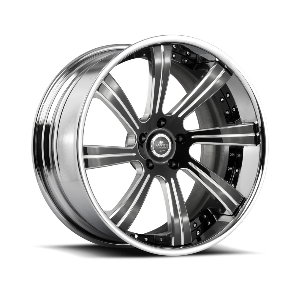 Savini Forged SV38c Black and Polished XC Wheels
