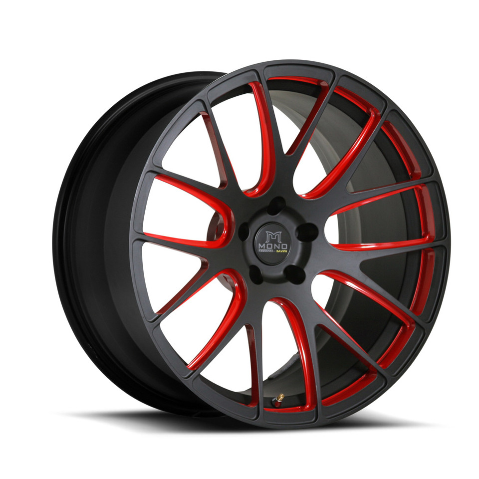 Savini Forged SV39m Black and Red Mono Wheels