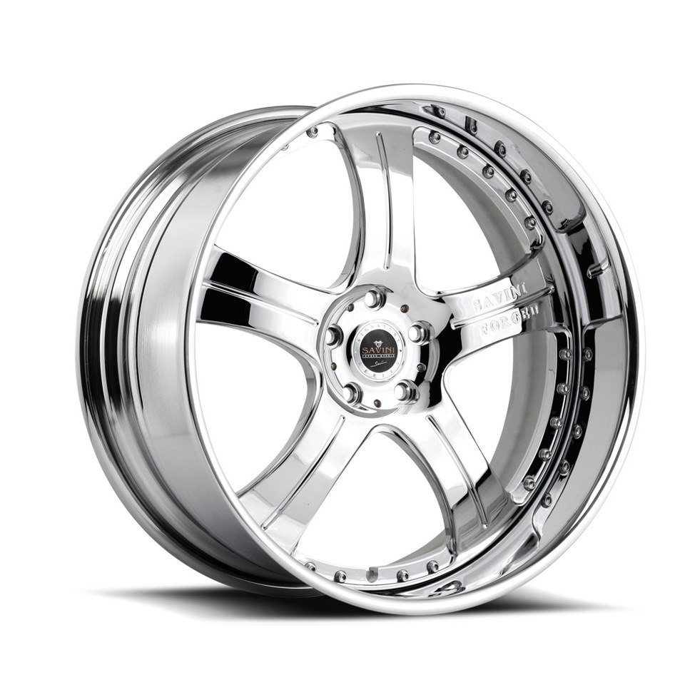 Savini Forged SV3 Chrome Signature Wheels