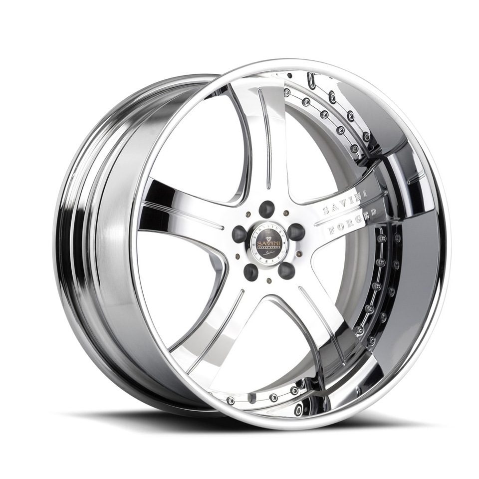 Savini Forged SV3s Chrome XLT Wheels