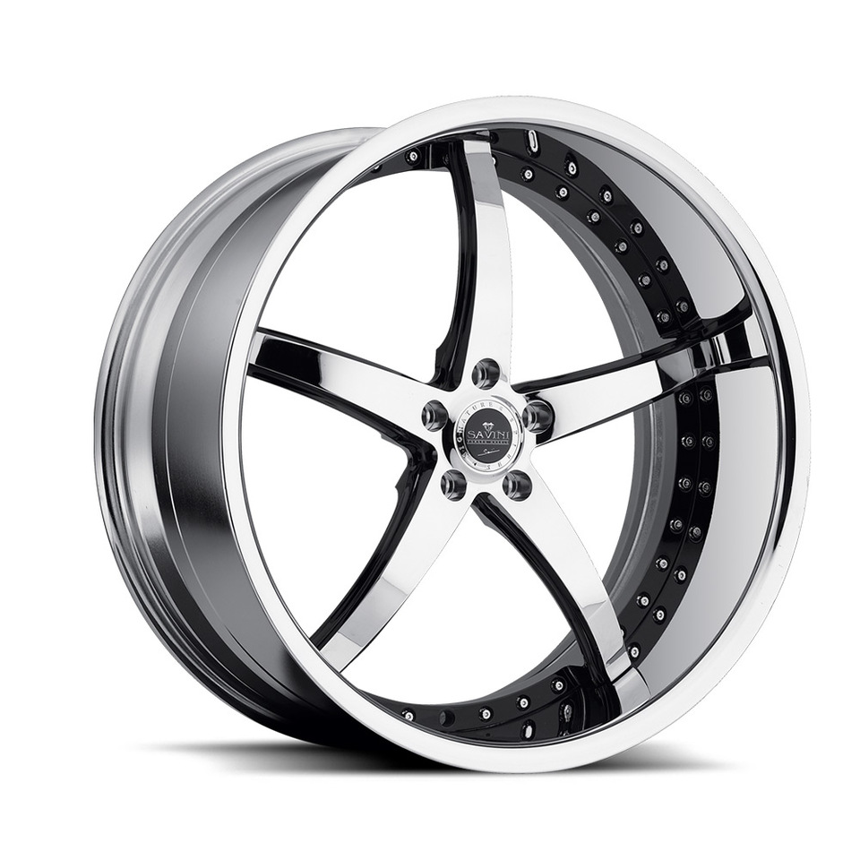 Savini Forged SV44s Chrome XLT Wheels
