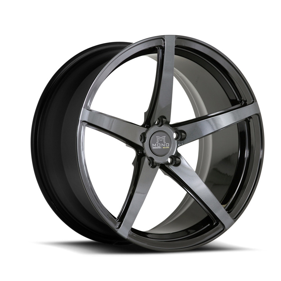 Savini Forged SV44m Black and Grey Mono Wheels