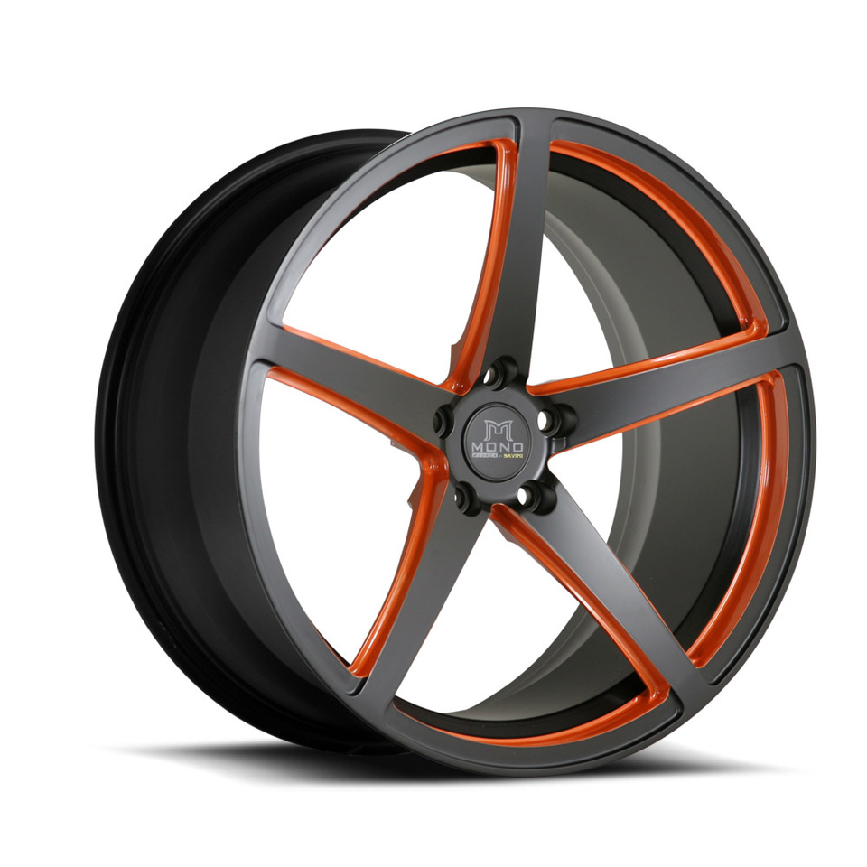 Savini Forged SV44m Black and Orange Mono Wheels